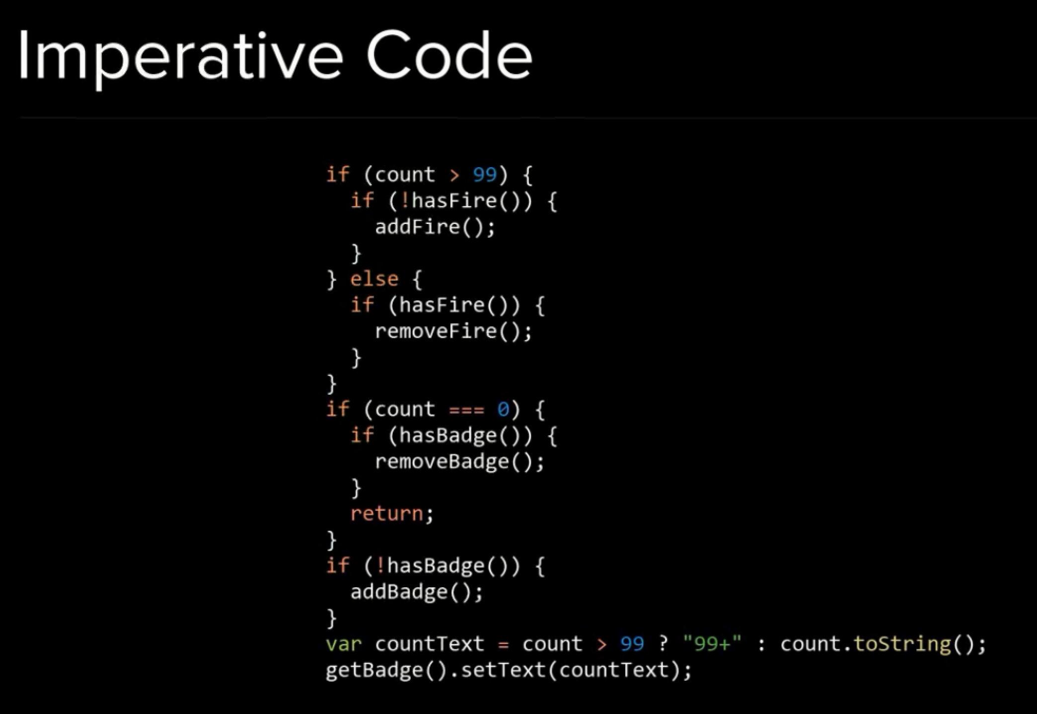 Imperative Code